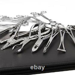 16pcs Piercing Tool Kit Body Piercing Forceps Ring Closer Opener Clamps Tools