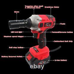 1/2 20V Brushless Impact Wrench Torque Rattle Gun kit Electric cordless battery