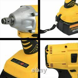 1/2 68V Brushless Impact Wrench Torque Rattle Gun kit Electric cordless battery