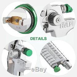 2.5mm HVLP Gravity Spray Gun Kit with Auto Paint Primer Metal Flake