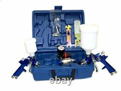 2 Hvlp Air Spray Paint Gun 1.4mm Air Touch Up Gun 1.0mm Painting Tool Kit
