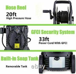 3000PSI 1.8GPM Electric Pressure Washer Powerful Cold Water Cleaner Machine Kit