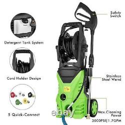 3000PSI 2.0GPM Electric Pressure Washer 2000W Power Water Cleaner Machine Kit