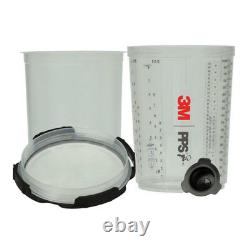 3M PPS Series 2.0 Spray Gun Cup System Kit 850ml with 125 Micron Filter Lids 26325