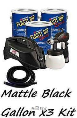 3 Gallons Matte Black Performix Plasti Dip + DYC DipSprayer Gun Bundle Kit