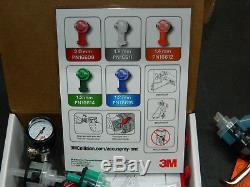 3m 16578 Accuspray One Spray Gun Kit 1 Gun 5 Atomizing Heads 10 Clips 1 Valve