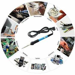 60W Adjustable Electric Temperature Gun Welding Soldering Iron Tool Kit Set