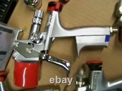 6PC Sata Adam2 Jet HVLP Paint Gun Set Case Digital Gauge 160853 PPS Starter Kit