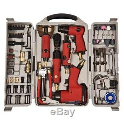 77PC Power Air Gun Multi Tool Wrench Grinder Hammer Socket Kit Impact Sockets