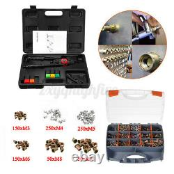 900PCS/Set Nutsert Tool Kit M3-M10 Stainless Steel Hand Rivet Gun Kit Rivnut Nut