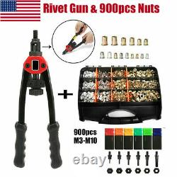 900pcs Rivet Gun Kit Rivnut Thread Setting Tool Nut Setter NutSert Metric M3-M10