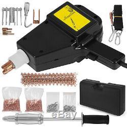 AUTO BODY STUD WELDER GUN AND SLIDE HAMMER DENT REPAIR KIT with Studs & Weld Tips