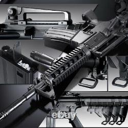 Academy M4A1 R. I. S Black Spring Powerd Airsoft Gun 6mm BB Gun Military Kit 17109