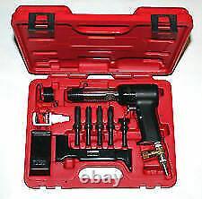Aircraft Tools Deluxe 737 Red Box 4x Rivet Gun Kit With Blocks & Snaps