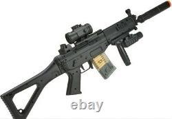 Airsoft Gun Rifle Bundle Starter Kit Electric Full Auto 552 Style 2k BULLDOG BBs