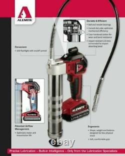 Alemite 596-B1 20-Volt Lithium-Ion 2-Speed Cordless Grease Gun Kit with LCD