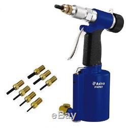 Astro Pneumatic Air/Hydraulic Nut/Thread Rivet Gun Kit Nut-Sert up to 3/8 #PRN1
