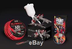 BURISCH GTR500 Spray Gun LVLP 1.3mm + 10M Air Hose airline + DVD + fittings kit