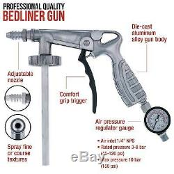 Bed Liner BRIGHT WHITE 0.875 Gallon Urethane Spray-On Truck Kit with Spray Gun