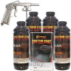Bed Liner CUSTOM COAT BLACK 4-L Urethane Spray-On Truck Kit with FREE Spray Gun