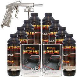 Bed Liner CUSTOM COAT BLACK 8-L Urethane Spray-On Truck Kit with FREE Spray Gun