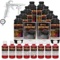 Bed Liner CUSTOM COAT HOT ROD RED 8-L Urethane Spray-On Truck Kit with Spray Gun