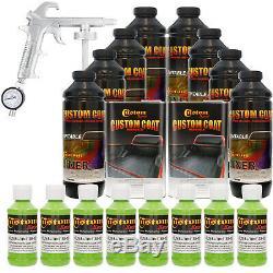 Bed Liner CUSTOM COAT LIME GREEN 8-L Urethane Spray-On Truck Kit with Spray Gun