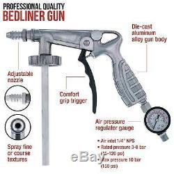 Bed Liner REFLEX BLUE 0.875 Gallon Urethane Spray-On Truck Kit with Spray Gun