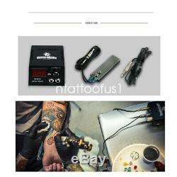 Beginner Tattoo Kit 4 Top Machine Gun Power Supply Grip Needles 40 Color Ink Tip