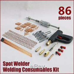 Car Dent Pulling Hook Slide Hammer Spot Welding Gun Wiggle Wires Repair Tool Kit
