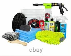 Chemical Guys Car Wash Kit 14 pcs TORQ Blaster Foam Gun & Buck / 5 Bottles 16oz