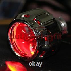Complete Kit! 35W Mini H1 Projector+Gatling Gun Shrouds+Red Demon Eyes+Ballasts