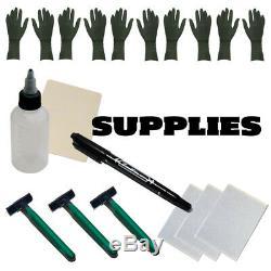 Complete Tattoo Pen Kit Javelin Cartridge Machine Needle Pro GUN 7 Ink Set