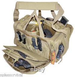 Coyote Brown Explorer Tactical Range Ready Bag Gun Pistol Survival Emergency Kit