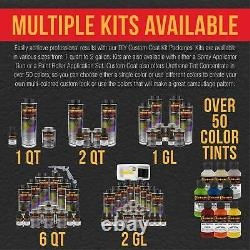 Custom Coat Black Metallic 2 Gal Urethane Spray-On Truck Bed Liner Spray Gun Kit
