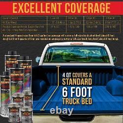 Custom Coat Blue Metallic 2 Gal Urethane Spray-On Truck Bed Liner Spray Gun Kit