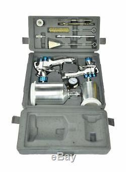 DeVilbiss 802342 StartingLine HVLP Gravity Spray Gun Kit 8 TIP Auto Paint New