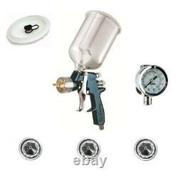 DeVilbiss FLG670 FinishLine Spray Gun Solvent Value Kit HVLP with 1.3 1.5 & 1.8
