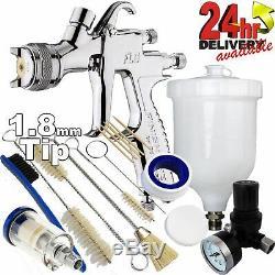 DeVilbiss FLG-G5 1.8mm Paint Spray Gun with Air Filter/Regulator/Cleaning Kit