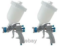 DeVilbiss SLG-610 1.3 Starting Line Gravity Spray Gun For Solvent Paint Kit Of 2
