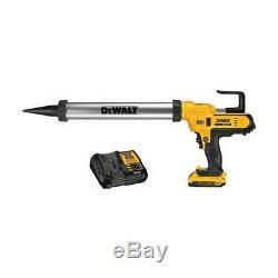 DeWalt 20V MAX 300-600 ml Cordless Lithium-Ion Caulk Gun Kit DCE580D1 New
