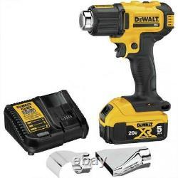 DeWalt DCE530P1 20 volt MAX Cordless Heat Gun 5.0ah Kit