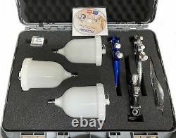 Devilbiss 3 Spray Gun Kit with Case GTE10 Black + GTE20 Blue + FLG 1.80