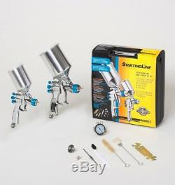 Devilbiss 802342 StartingLine HVLP 2-Gun Painting & Touch Up Kit 1.3 1.0 1.8