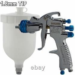 Devilbiss SLG-620 Compliant Solvent Gravity Spray Gun 1.8mm +Gun Cleaning Kit