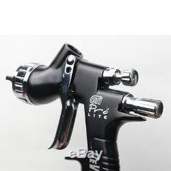 Devilbiss Spray Guns Air Paint Spray Gun Kit Gti Pro TE20 Cap Gravity Feed 1.3mm