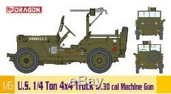 Dragon #75050 1/6 U. S. 1/4 Ton 4x4 Truck with. 30 cal Machine Gun