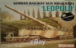 Dragon Models 1/35 scale kit 6200, German LEOPOLD 28cm Railway gun