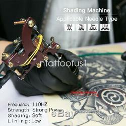 Dragonhawk 4 Tattoo Kit Machine Gun color Ink Power supply needle Grip Tip set N