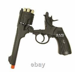 FULL METAL WELL Webley MKVI Co2 Revolver Airsoft Pistol 6mm + 4.5mm 0.177 cal